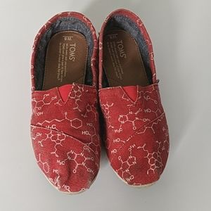 TOMS | Chemical Structure Red Classic Slip-ons
